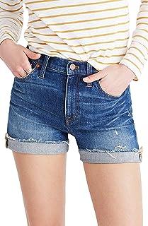 [メイドウェル] レディース デニム Madewell High Rise Cuffed Denim Shorts ([並行輸入品]