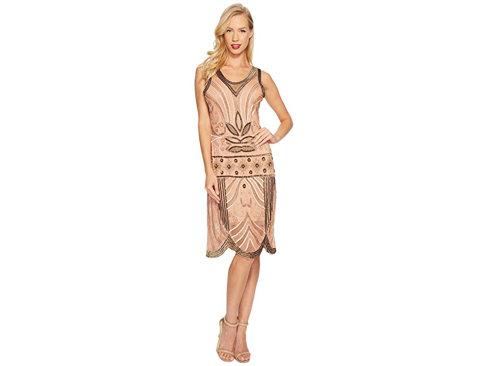 Unique Vintage Caspian Flapper Dress (Antique Rose) Women