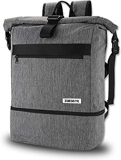 Mochila Roll Top para hombre y mujer, impermeable, para portátil, con compartimento para zapatos, para el gimnasio, mochila de viaje, bolsa de gimnasio, bolsa de gimnasio, 30 L