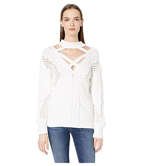 0c23edb7ba Cushnie Long Sleeved Crew Neck Cable Knit Sweater at Luxury.Zappos.com