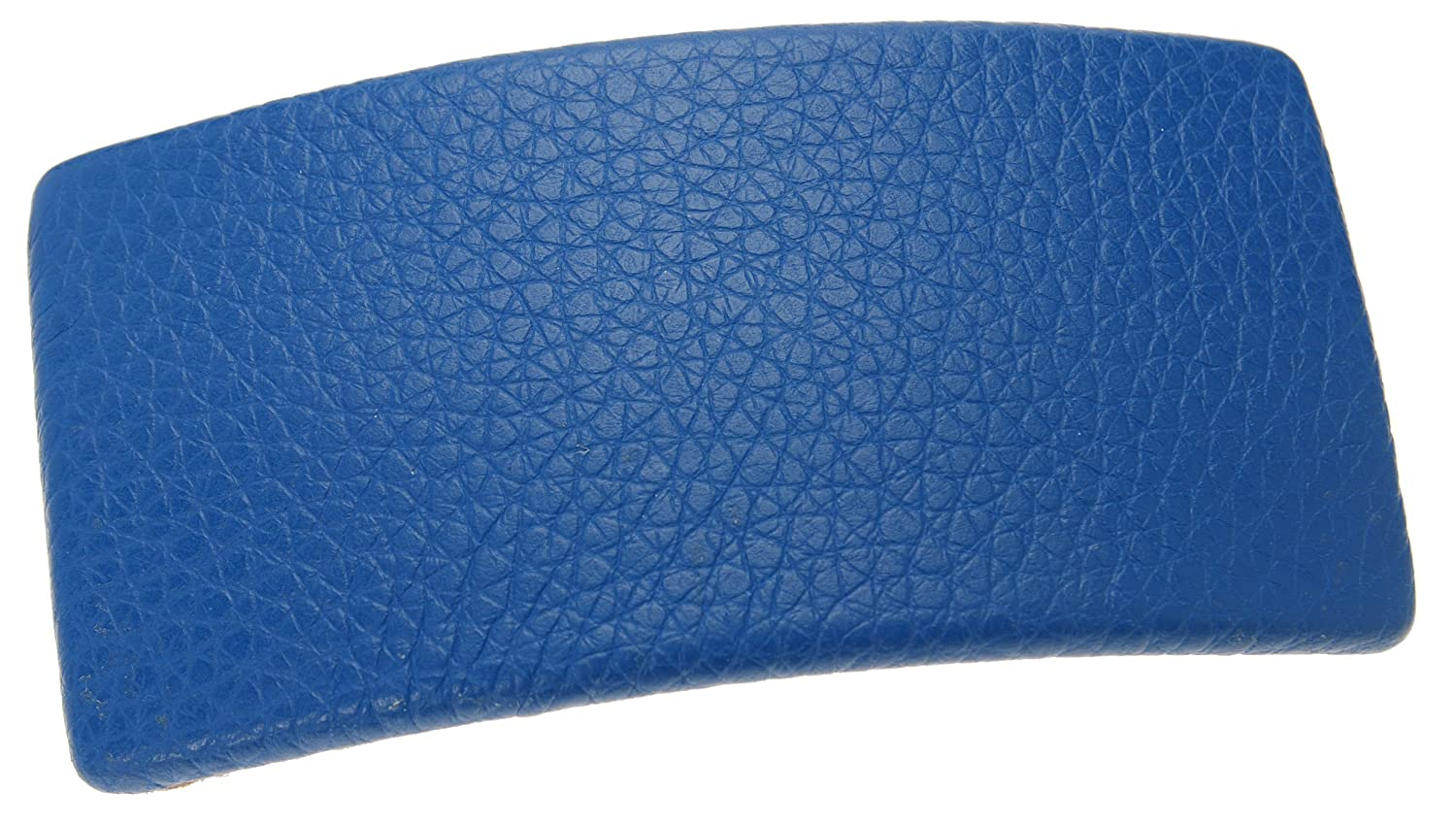 Luxury goods L. Erickson USA Genuine Leather Large Barrette - Rectangle New product type Cobal
