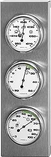 Sunartis 3-4013 THB197 Station météorologique en Acier Inoxydable avec thermomètre, baromètre et hygromètre