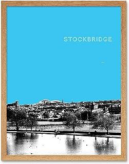 Inverleith Edinburgh Scotland Scottish Landmark Sky Blue Art Print Framed Poster Wall Decor 12X16 Inch エジンバラスコットランドスコットランド...