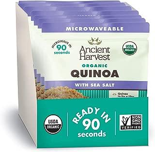 Ancient Harvest Certified Organic Microwavable Quinoa Pouch, Sea Salt, 8 Count