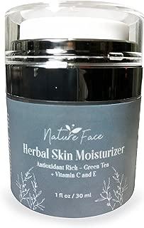 Organic Gluten-Free Facial Moisturizer by NatureFace   Non-Comedogenic Moisturizer for Dry Skin, Oily Skin, Sensitive Skin   Rosacea Treatment, Eczema, Psoriasis, Dermatitis, Skin Rash, Skin Redness