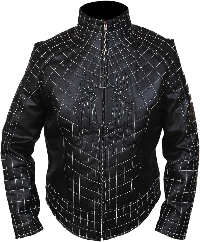 Flesh & Hide F&H Kid's Amazing Spiderman Genuine Leather Jacket