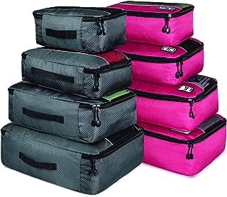 Packing Cubes, Idesort Travel Luggage Organizer Mixed Color Set(Grey/Rose)