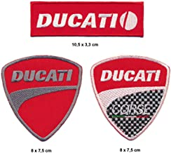 BLUE HAWAI A438 Ecussion Ducati Logo Vintage 10 x 4,5 cm