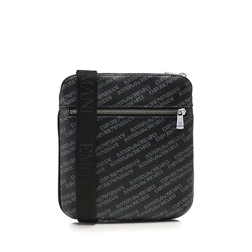 21691b1ba524 Emporio Armani Logo Print Pouch Black