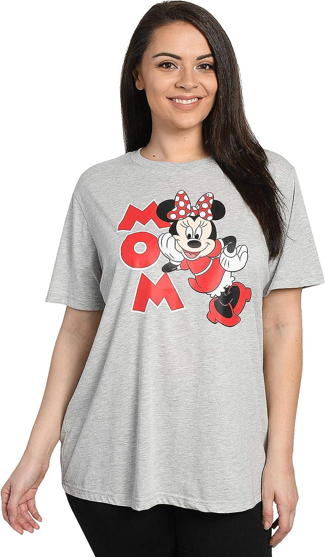 Disney Mom Womens Plus Size T-Shirt Minnie Mouse Print