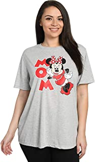Disney Mom Womens Plus Size T-Shirt Minnie Mouse Print
