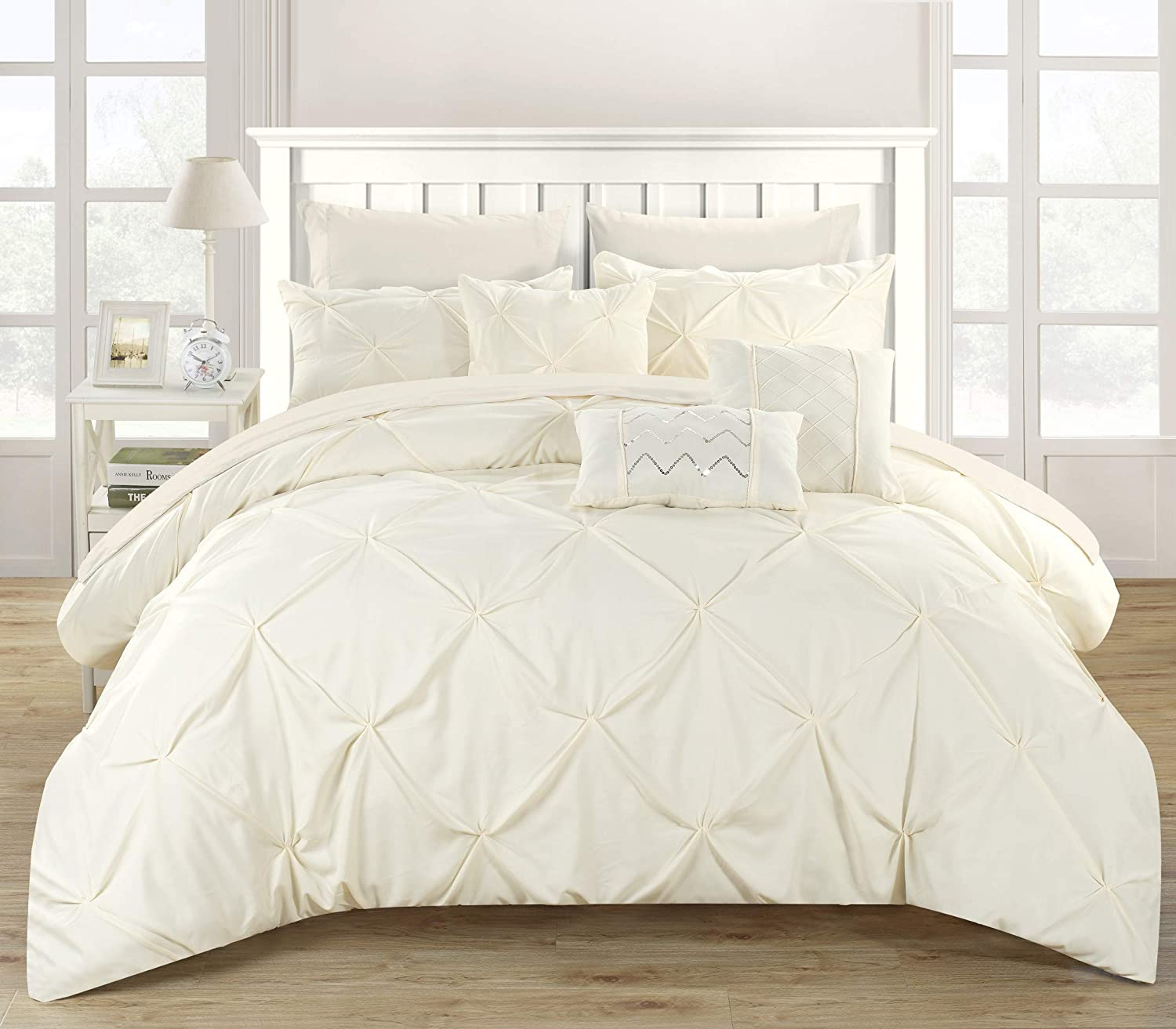 Chic Max 51% OFF Home 10 Piece Hannah Pinch com pleated and Gifts ruffled Pleated