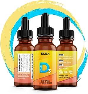 Vitamin D3 Drops - 2,000 IU/50 MCG Per Drop - Organic - High Potency - 900 Servings - Easy Dose - Family Size - Fast Absor...