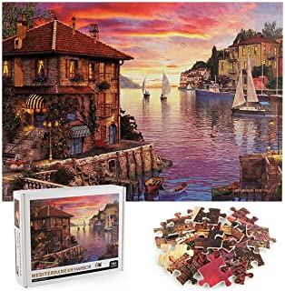 Jigsaw Puzzles for Adults 1000 Piece - Educational Intellectual Decompression Family Game - Kids Toys Gift - Mediterranean...