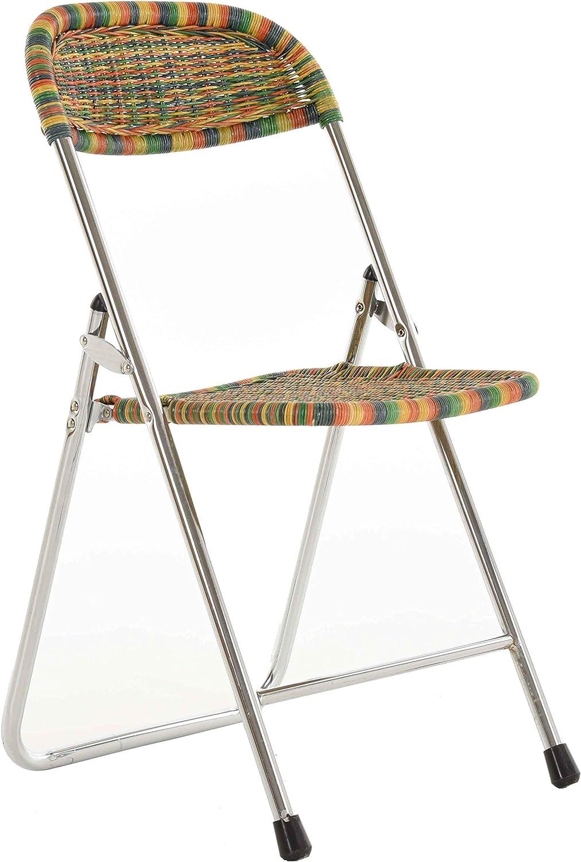 Korb.outlet Lot de 2 chaises pliantes en rotin Coloré