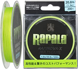 Rapala (rapala) lapinova X multi-game 1.0 no. 20.8 lb 200 m lime green RLX200M