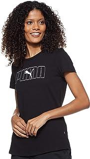 Puma Women's Rebel Graphic T-shirt, Black, Medium