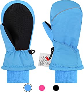 Andake Kids Ski Mittens for Girls Boys, Children¡¯s 3M Thinsulate Warm Winter Gloves Waterproof Sonw Outdoor Gloves 2-8Y