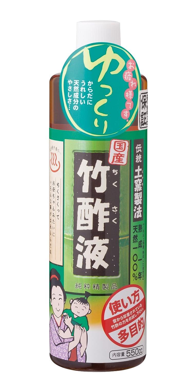 本体光景保護する日本漢方研究所 熟成1年 希釈一切なしの純粋竹酢液 竹酢液 550ml 半ケース(12本入り)