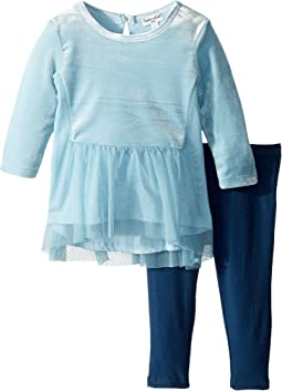 Velour/Tulle Leggings Set (Infant)