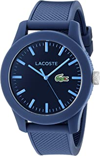 Lacoste Men's 2010765 Lacoste.12.12 Blue Resin Watch with Textured Silicone Band