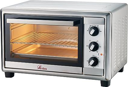 Ardes AR6224X horno tostador 24 L Acero inoxidable 1500 W - Hornos tostadores (24 L, Acero inoxidable, Giratorio, 90-230 °C, Mecánico, 60 min)