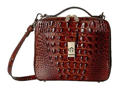 Brahmin Melbourne Evie Satchel (Pecan) Satchel Handbags