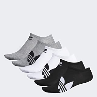 Adidas Trefoil Superlite - Calcetines para hombre, Hombre, Calcetines atléticos, 977004, negro, blanco, negro, gris,, Large (Mens Shoe Sizes 6-12)