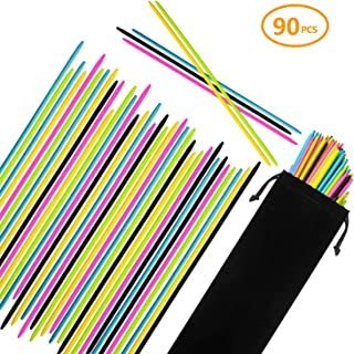 CODOHI 90PCS Bamboo Pick Up Sticks for Kids & Parents Bamboo Classic Game 7.5 Inch Long Pick-up-Sticks Fun Family Game- Nostalgic Games