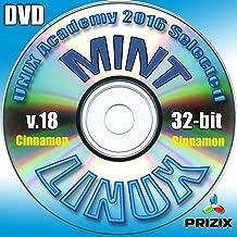 Mint Cinnamon 18 Linux DVD 32-bit Full Installation Includes Complimentary UNIX Academy Evaluation Exam
