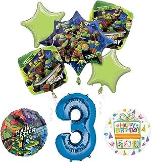 Teenage Mutant Ninja Turtles 3rd Birthday Party Supplies and TMNT Balloon Bouquet Decorations