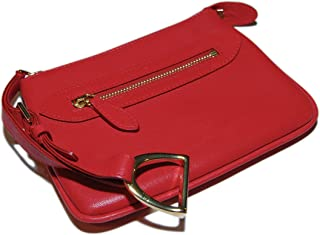 Polo Ralph Lauren Collection Womens Equestrian Red Leather Coin Wallet Italy