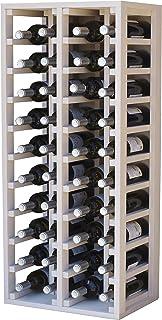 Expovinalia Botellero para 8 Botellas MDF Blanco 40x28x6 cm