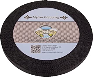 Country Brook Design - Black 1/2 Inch Heavy Nylon Webbing (10 Yards)