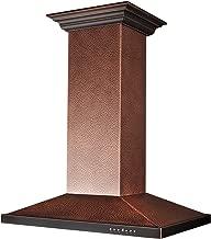 hammered copper range hood