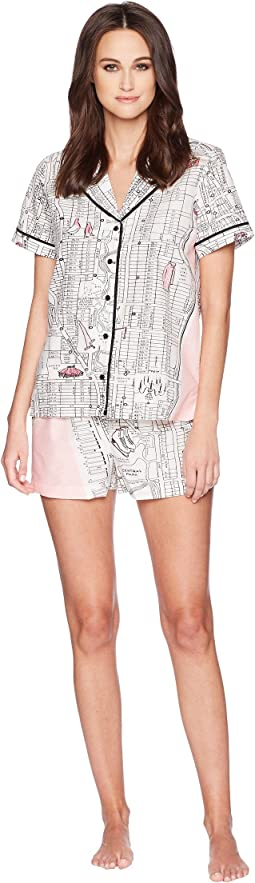 Manhattan Map Short Pajama Set