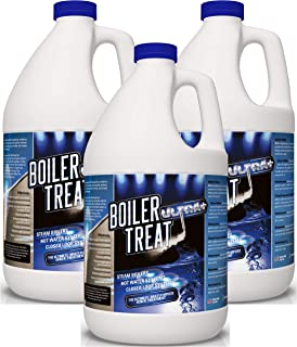 Boiler Water Treatment Chemicals - 3 Gallon Case (Prevents RUST & CORROSION in Steam Boilers, Hot Water Systems, Closed Loop Systems, Wood Burning Boilers)