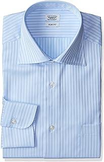 [フェアファクス] ドビーストライプムジ柄ワイドカラーシャツ メンズ 6701