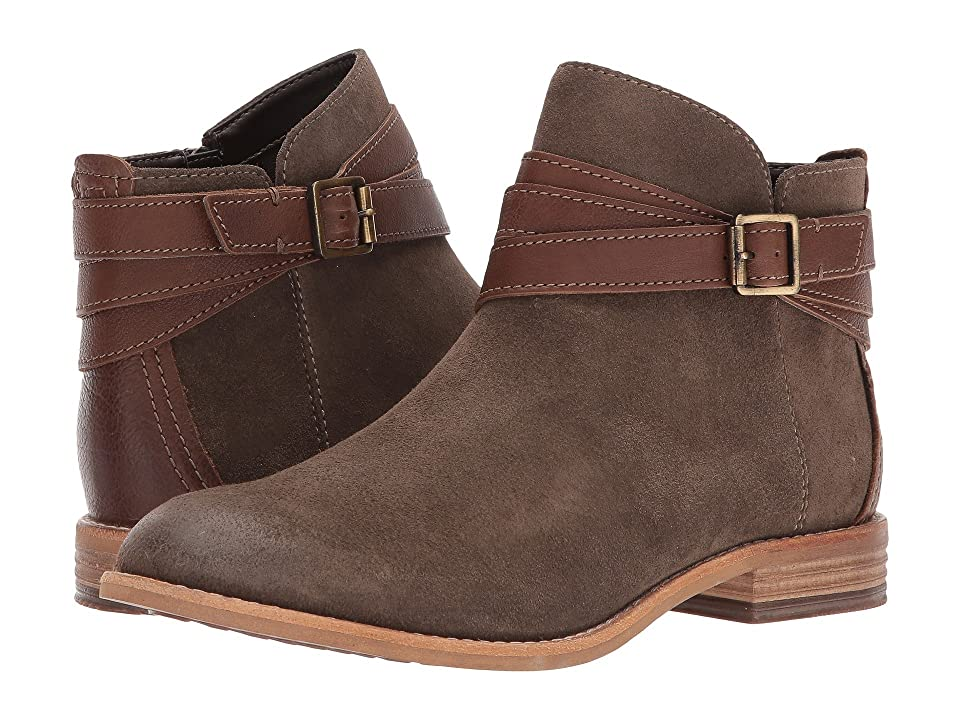 Clarks Maypearl Edie (Olive Leather/Suede) Women