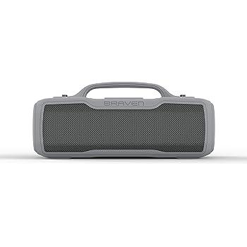 Shockproof Powerful Sound Voice Control Wireless - Black//Black//Titanium Braven Ready Prime Bluetooth Smart Speaker Waterproof 17-Hour Playtime