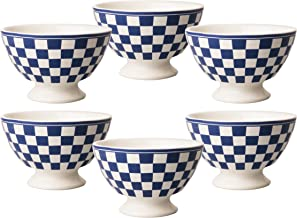 Kom Amsterdam 6X361613x 8cm Set of 6Medium Bowl–Damier Blue