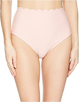 Marina Piccola Textured Scallop High-Waist Bottom