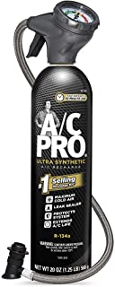 AC Pro Car Air Conditioner R134A Refrigerant, AC Recharge Kit Includes Gas, Gauge and..