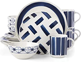 Lenox Painted Elements Indigo Brush 16 Piece Dinnerware Set