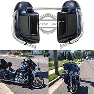 Advanblack Big Blue Pearl Rushmore Lower Vented Fairings Kit Fit for Harley Touring Street Glide Road Glide Electra Glide 2014 2015 2016 2017 2018