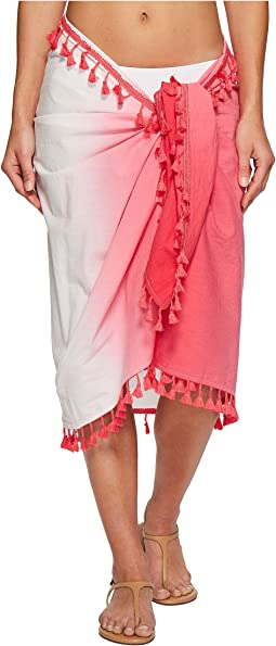 BSS1812 Woven Dip-Dye Sarong Cover-Up