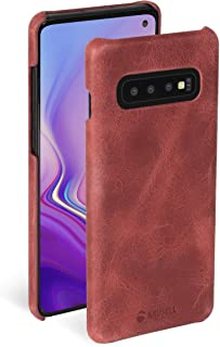 Krusell Genuine Leather Sunne Case for Samsung Galaxy S10 in Vintage Red