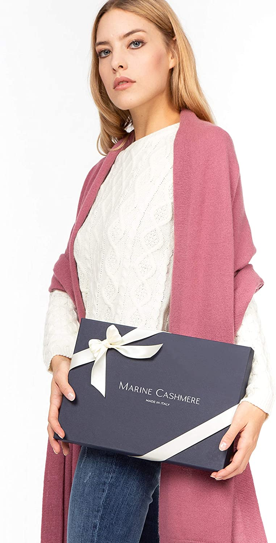 Stola aus 100/% Kaschmir f/ür Damen inklusive Geschenkbox MARINE CASHMERE