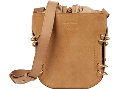 See by Chloe Alvy Bucket Bag (Coconut Brown) Drawstring Handbags