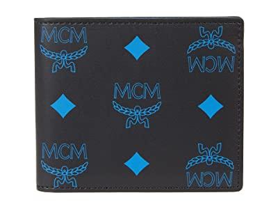 MCM Color Splash Logo Flap Wallet/Two-Fold Small